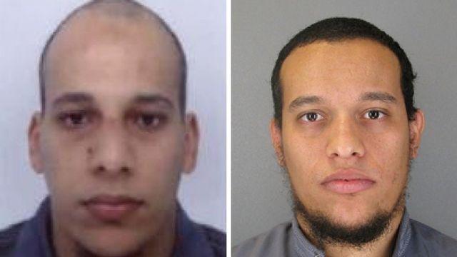 Les deux suspects recherchés par les autorités françaises dans la tuerie de Charlie Hebdo. [Police française]