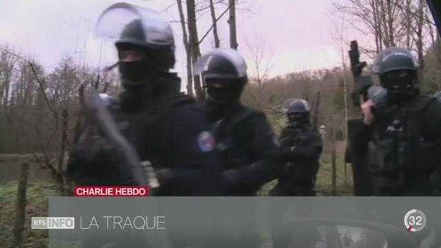 Attentat à Charlie Hebdo: la traque des suspects se poursuit au nord-est de Paris (1-2) [RTS]