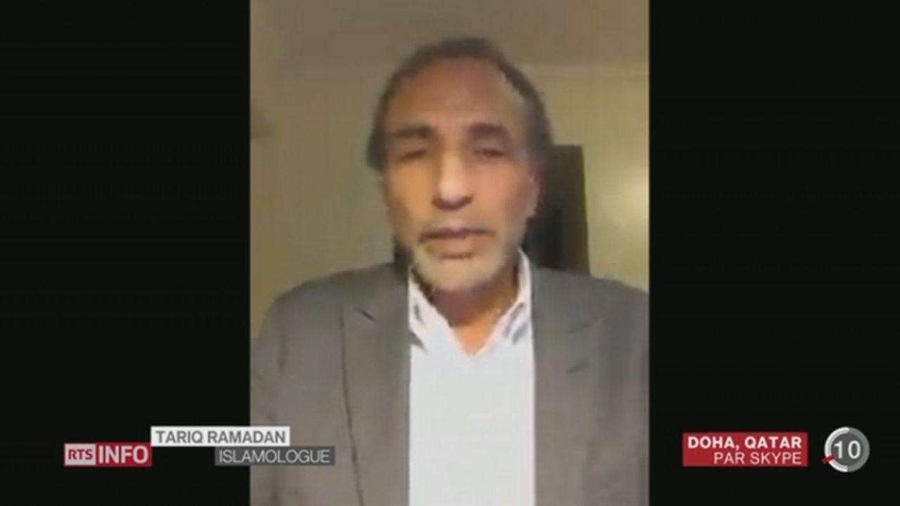 Attentat à Charlie Hebdo: entretien avec Tariq Ramadan depuis Doha (Qatar) [RTS]
