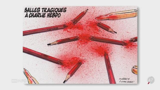Attentat à Charlie Hebdo: les dessinateurs de presse de la planète entière ont réagi [RTS]
