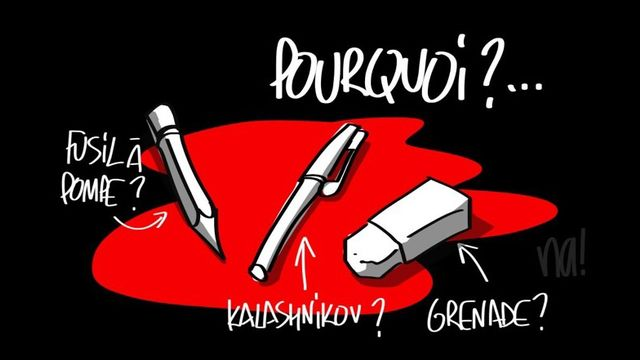 La caricature du dessinateur de BFM TV. [BFM TV]