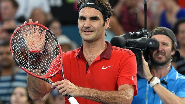 Federer, en cas de victoire en finale à Brisbane, remporterait un 83e titre sur le circuit. [Saeed KHAN - AFP]
