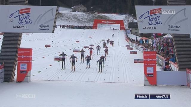 Val Di Fiemme: Tim Tscharnke (GER) s'impose devant Alexey Polotanin (KAZ) 2e et Dario Cologna (SUI) 3e [RTS]