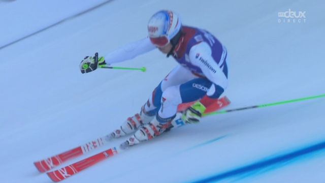 Géant messieurs, 2e manche: Carlo Janka (SUI) n'est malheureusement pas à l'aise avec cette piste et se classe 21e [RTS]