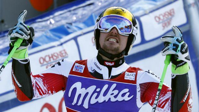 Comme en 2012, Hirscher tentera le doublé demain en slalom à Adelboden.  [Ruben Sprich - Reuters]