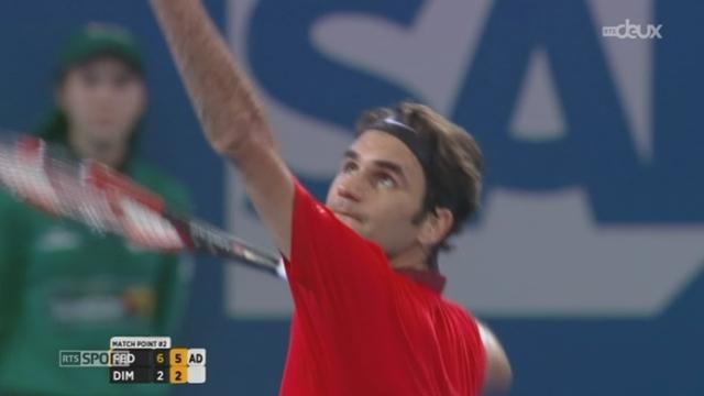 Tennis: Roger Federer a largement remporté son duel face au Bulgare Dimitrov (6-2, 6-2) à Brisbane (Australie) et Stan Wawrinka a battu le Belge Goffin (7-5, 6-3) à Chennai (Inde) [RTS]