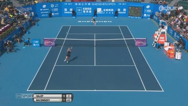 Tennis: Timea Bacsinszky a perdu en finale du tournoi de Shenzhen (Chine) contre la Roumaine Simona Halep (2-6, 2-6) [RTS]