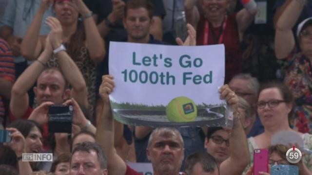 Tennis: Roger Federer a fêté la 1000ème victoire de sa carrière professionnelle [RTS]
