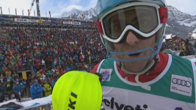 Slalom messieurs, 2e manche: superbe performance de Stefano Gross (ITA) qui remporte ce slalom [RTS]