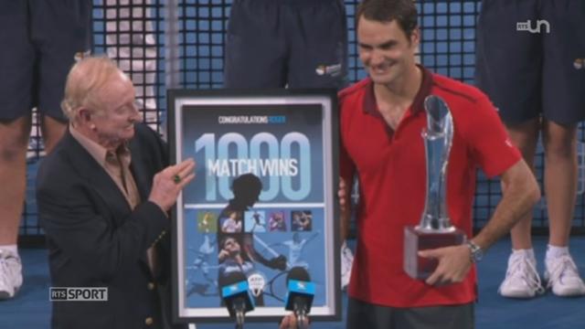Tennis: Federer gagne son 1000e match en remportant le tournoi de Brisabne, pendant que Wawrinka s'imposait à Chennai [RTS]