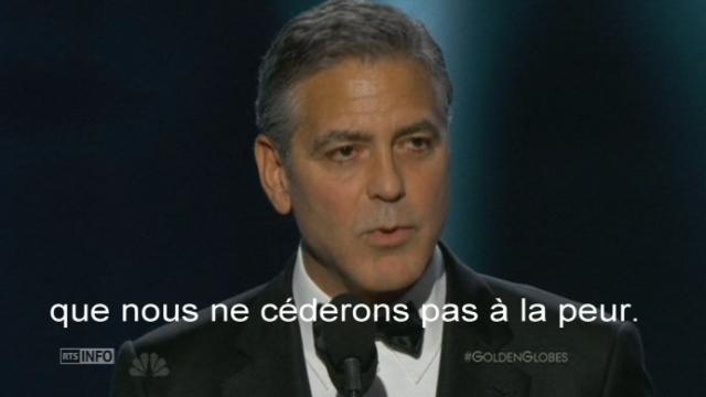 Hommages à Charlie Hebdo aux Golden Globes [RTS]
