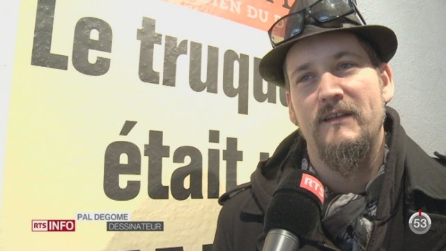 La Maison du dessin de presse de Morges a rendu hommage à Charlie Hebdo [RTS]