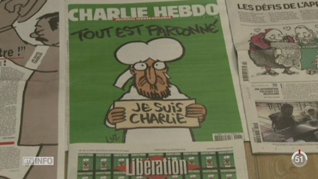 Les 3 millions d'exemplaires du nouveau numéro de Charlie Hebdo ont été épuisés en quelques heures [RTS]