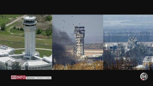 Ukraine: l'aéroport de Donetsk a connu les combats les plus intenses depuis le début de la guerre [RTS]