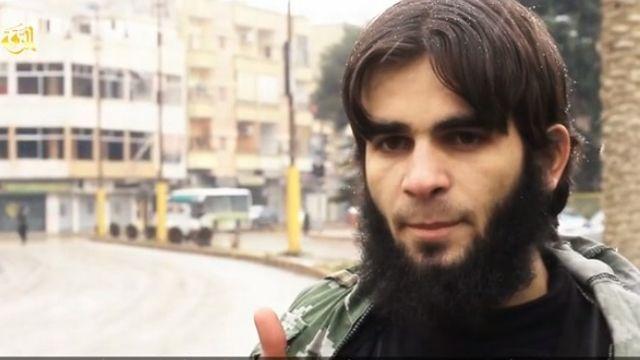 Capture de la vidéo postée par l'Etat islamique. [jihadology.net/]