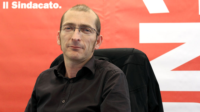 Aldo Ferrari (syndicat Unia). [Didier kottelat - RTS]