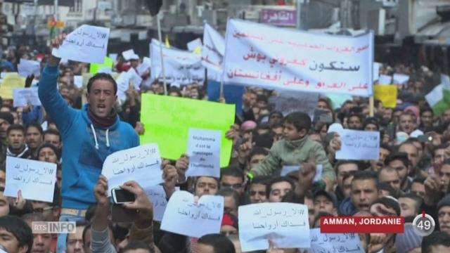 Des manifestations prennent place contre Charlie Hebdo [RTS]