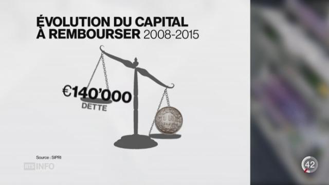 Franc fort: les dettes de milliers d'Européens explosent [RTS]