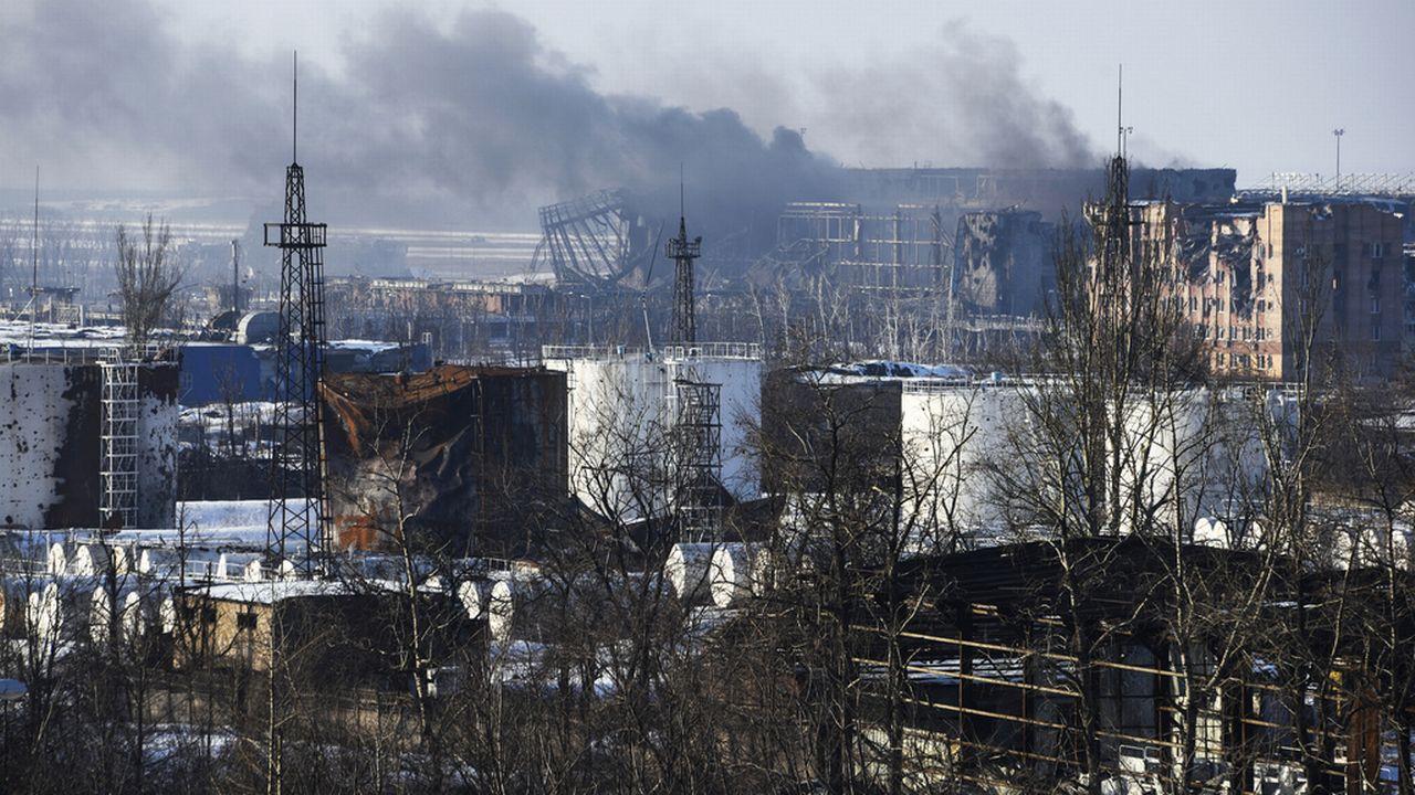 Photo de l'aéroport de Donetsk, dans l'est de l'Ukraine, prise le 15 janvier. [AP Photo/Mstyslav Chernov - Keystone]