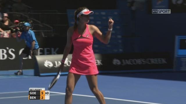 1er tour, Julia Goerges (GER) - Belinda Bencic (SUI) (6-2): la Suissesse craque une nouvelle fois et perd ce premier set en 33 minutes [RTS]