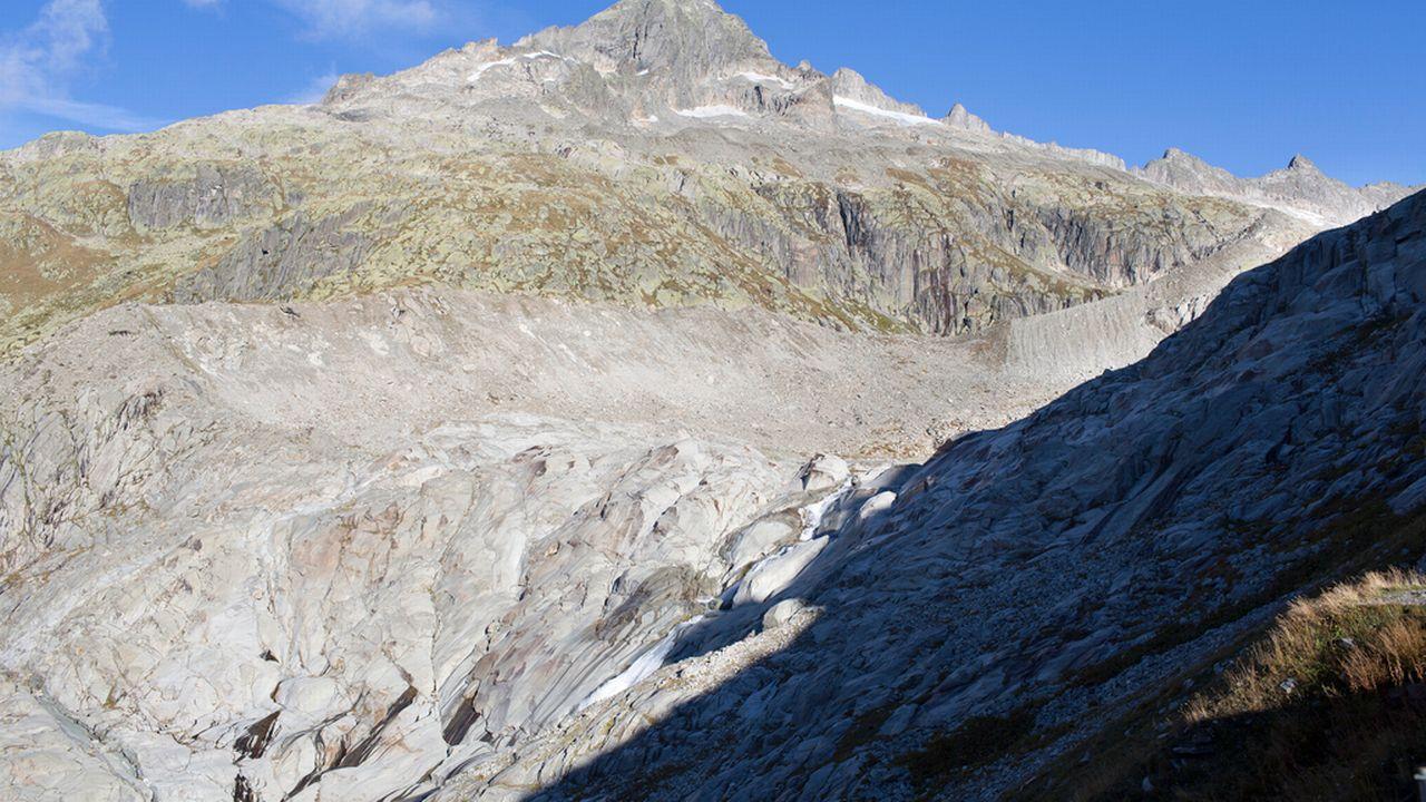 Le glacier du Rhône [KEYSTONE/Gaetan Bally]