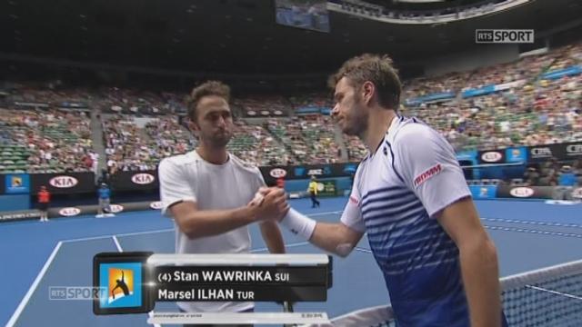1er tour, Stanislas Wawrinka (SUI) - Marsel Ilhan (TUR) (6-1, 6-4, 6-2): le Suisse remporte son premier match de l'Open d'Australie aisément en 1h29 [RTS]