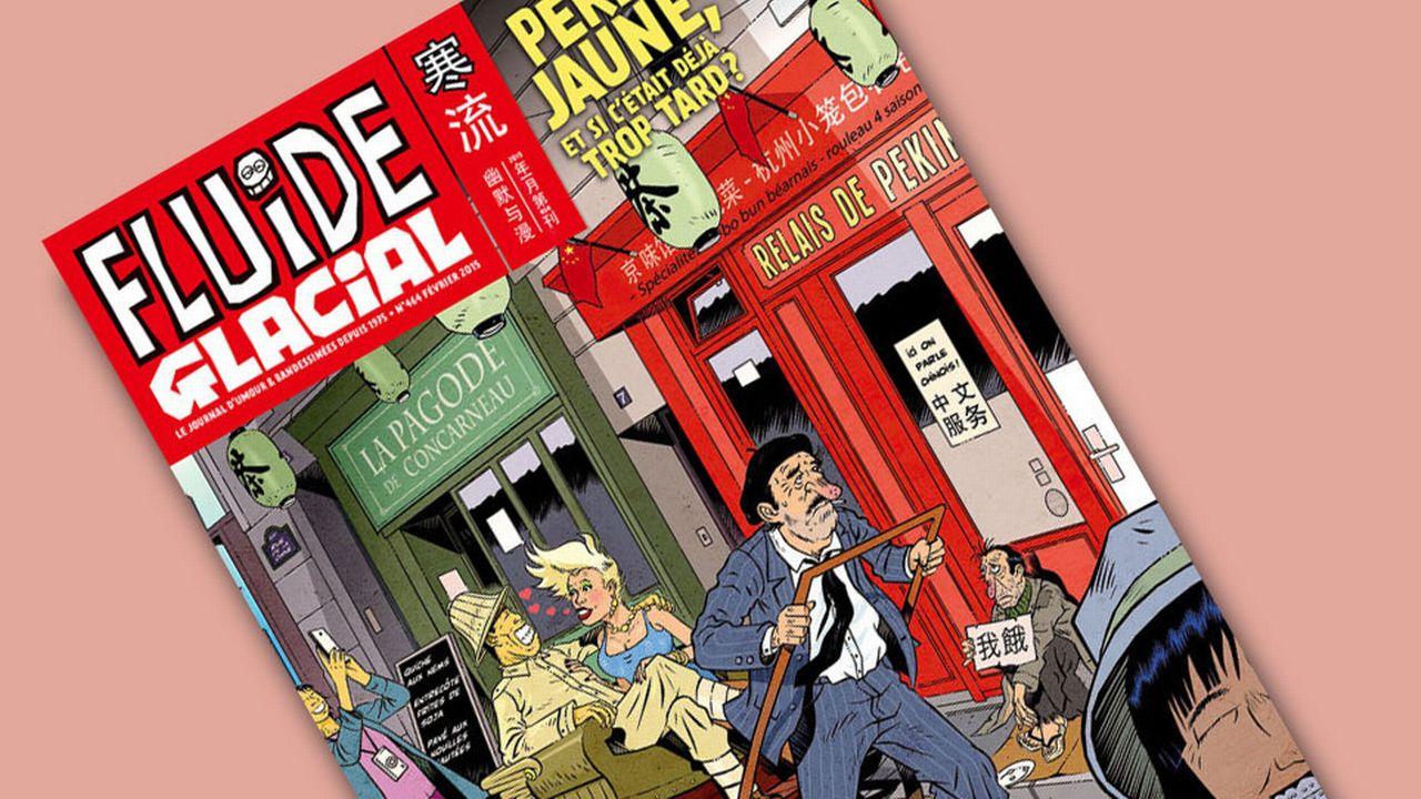 """La couverture du dernier numéro consacré au """"péril jaune"""". [fluideglacial.com]"""