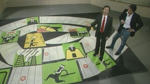 Le jeu de l'oie de l'inventeur en 1986. [RTS]