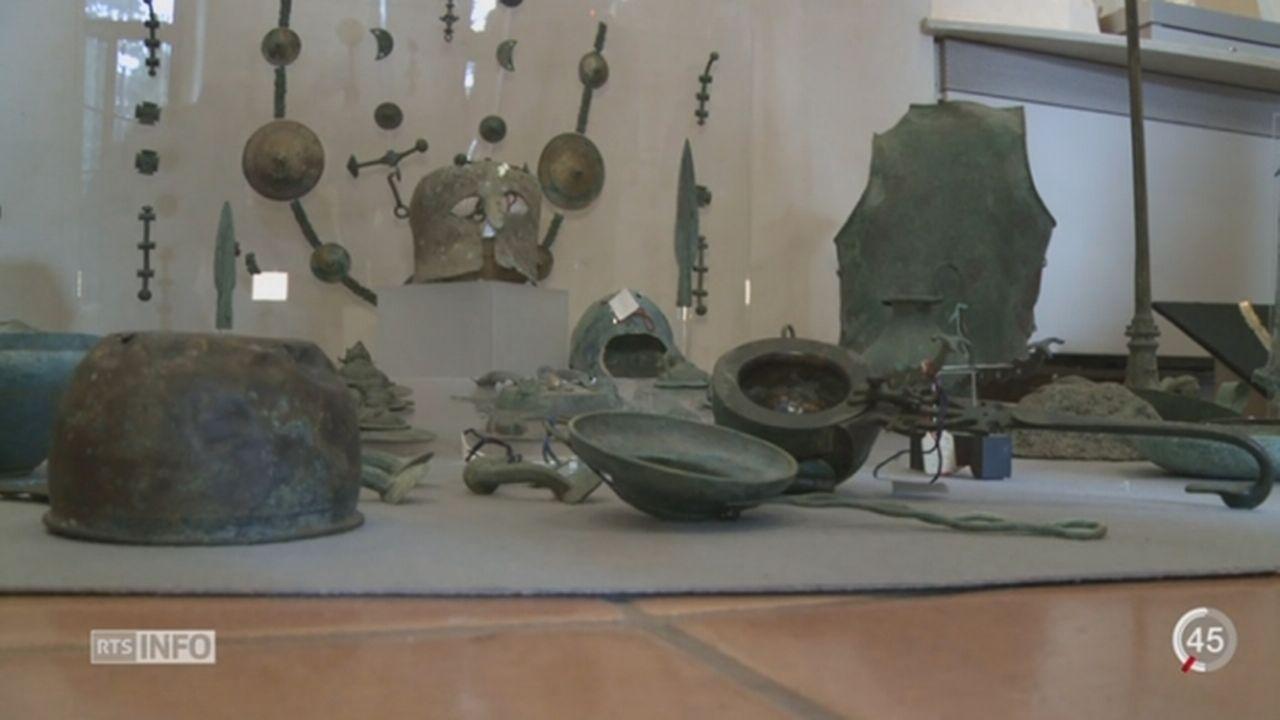 Plus de 5'000 objets d'art ont été restitués par la Suisse à l'Italie [RTS]