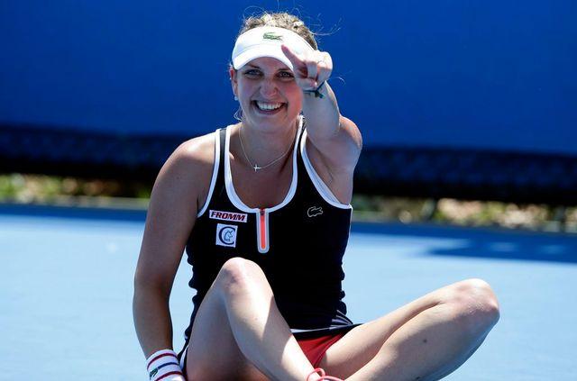 Grande joie pour la Vaudoise, qui atteint pour la première fois le 3e tour à Melbourne. [Barbara Walton - Keystone]