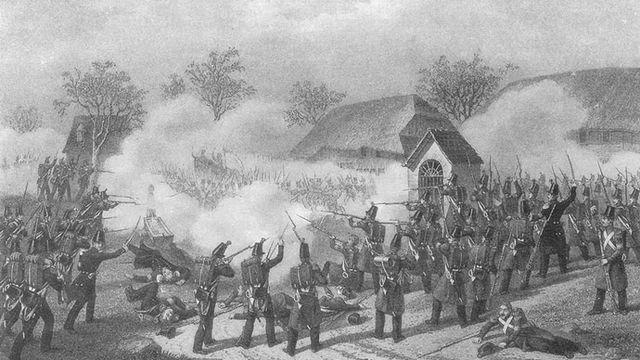 La bataille de Geltwil, en 1847, lors de la guerre du Sonderbund. [Wikimédia.]
