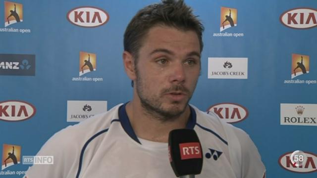 Tennis - Open d'Australie: Wawrinka accède au troisième tour [RTS]