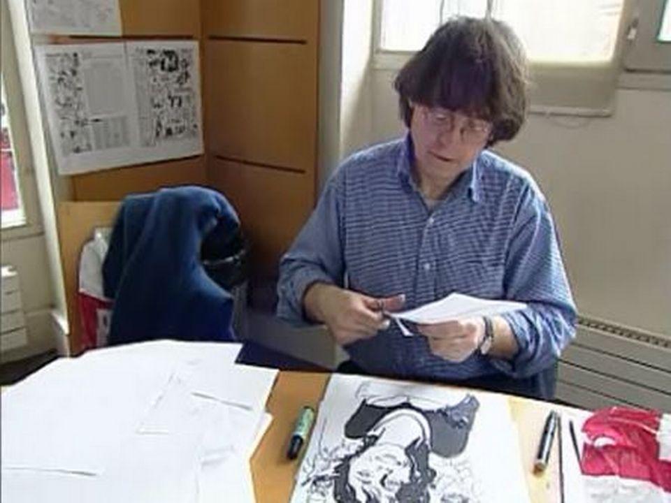 """Reportage à Charlie Hebdo dans l'émission """"La tête ailleurs"""" (Massimo Lorenzi) 26 avril 2005 [RTS]"""