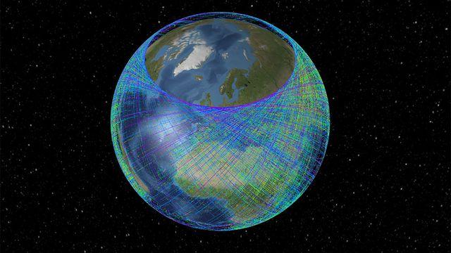 La trajectoire de la Station Spatial ressemble à une pelotte de laine. [DR]
