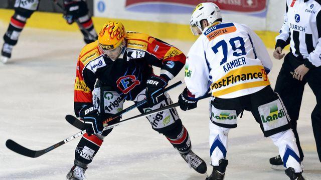 La dernière rencontre entre le HC Bienne et le HC Fribourg-Gotteron remonte au 9 janvier 2015. [Laurent Gillieron - Keystone]