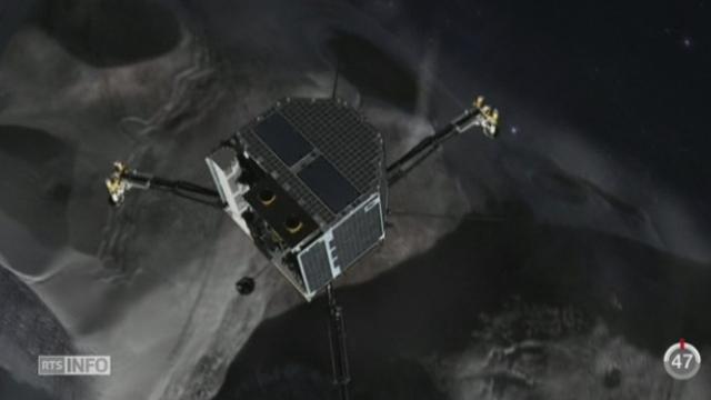 """Le robot """"Philae"""" s'est détaché de la sonde Rosetta après dix ans de voyage [RTS]"""