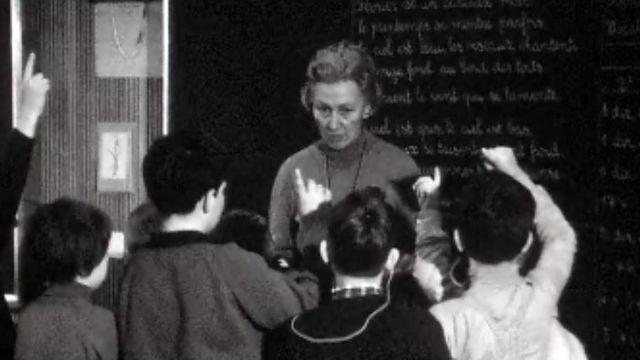 Une école d'enfants durs d'oreilles à Lausanne.