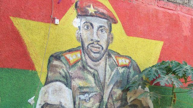 Le charismatique capitaine Sankara a été assassiné en octobre 1987. [Ahmed Ouoba - AFP]