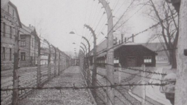Le camp de concentration d'Auschwitz après la libération. [RTS]
