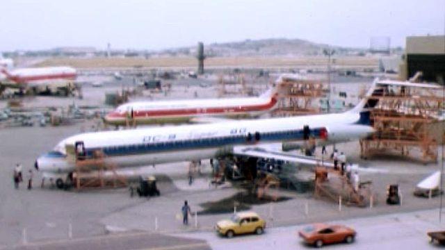 La TSR filme en avant-première le nouvel appareil de Douglas.