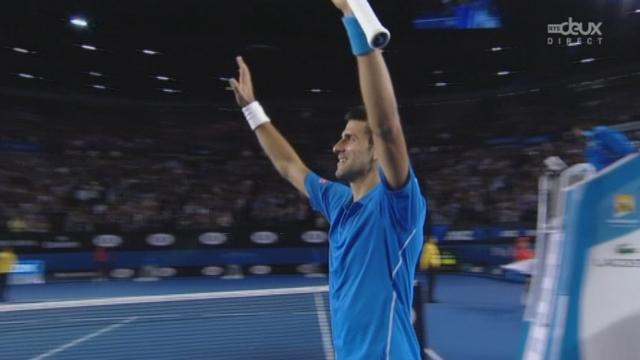 1-2 finale, Wawrinka-Djokovic (6-7, 6-3, 4-6, 6-3, 0-6): Djokovic s'impose face à un Suisse à bout de force [RTS]