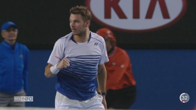 Tennis - Open d'Australie: Stan Wawrinka s'incline en demi-finale face à Novak Djokovic [RTS]