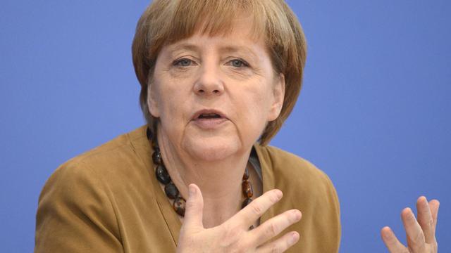 Angela Merkel se rendra en Ukraine samedi pour soutenir les autorités de Kiev. [Clemens Bilan - AFP]