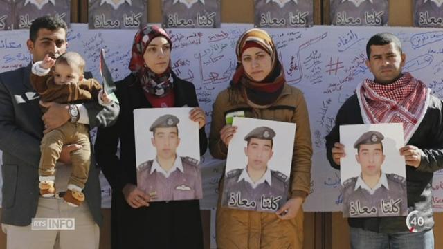 Les réactions se multiplient après la mort d'un pilote jordanien par l'État islamique [RTS]