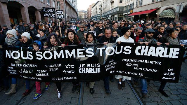 Marche de solidarité après les attaques de Paris début janvier. [Vincent Kessler  - Reuters]