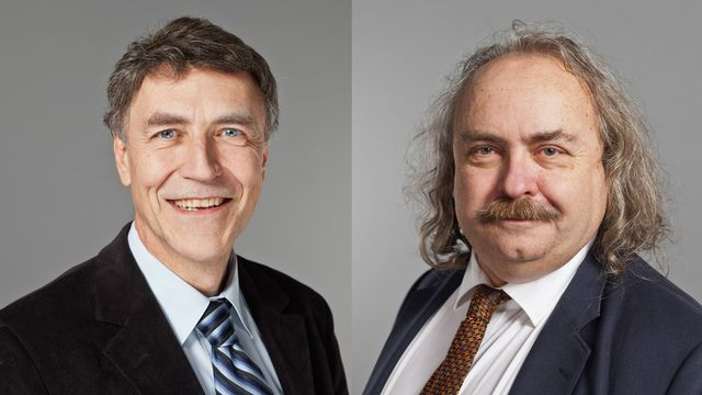 Luzi Stamm et Luc Recordon. [Gaëtan Bally - Keystone]