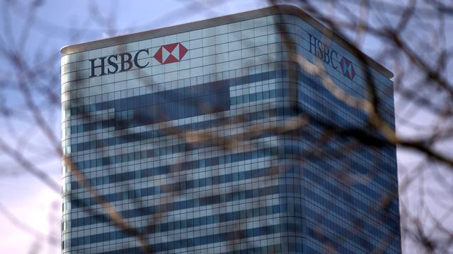 Le siège d'HSBC à Londres. [Andrew Cowie - AFP]