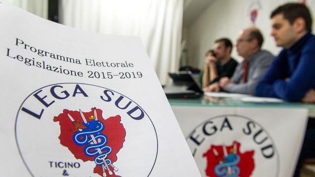 Le nouveau parti Lega Sud demande notamment l'autodétermination du Tessin. [Carlo Reguzzi - Ti-Press/Keystone]