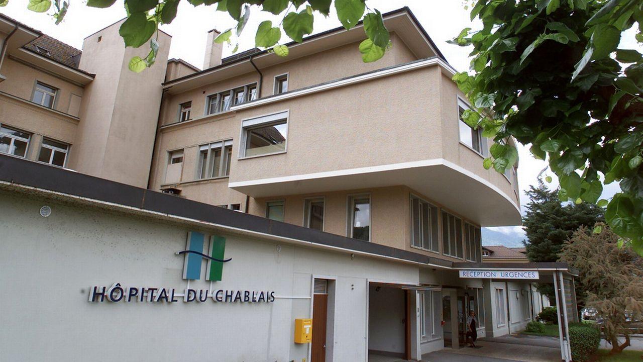 Le site d'Aigle de l'Hôpital Riviera-Chablais. [Fabrice Coffrini - Keystone]