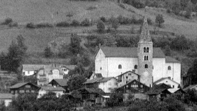 La commune d'Ayent en 1969. [RTS]